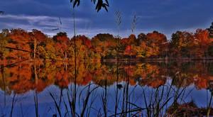 Maryland Autumn Lake Scene by Matthew-Beziat