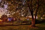 Farm Sunset Scene