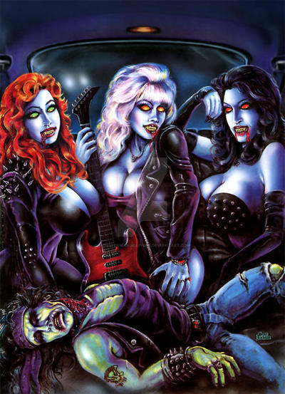Heavy Metal Vampire Girls By Scott Jackson By