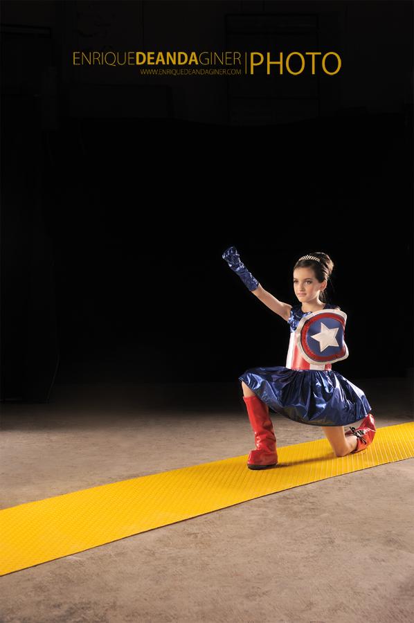 Girl With Captain America costume.1 by elgallosicodelico