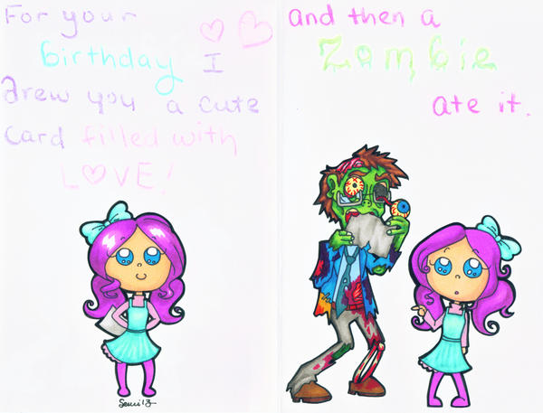 Cute zombie birthday card by plushlosophy on deviantart cute zombie birthday card by plushlosophy bookmarktalkfo Images