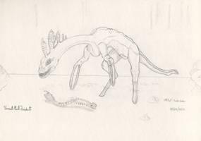 Stiltfoot Snake Eater - Toci1 by Tapejara
