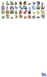 Kawaru Fakemon Gen1 Sprites