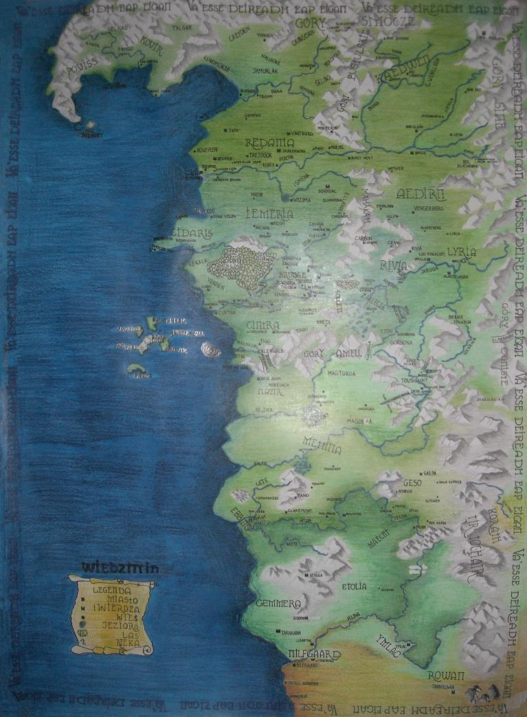 The map of the witchers world by madlaen on deviantart the map of the witchers world by madlaen gumiabroncs Choice Image