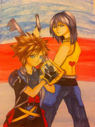 kingdom hearts :Sora and Riku by o0art0o9