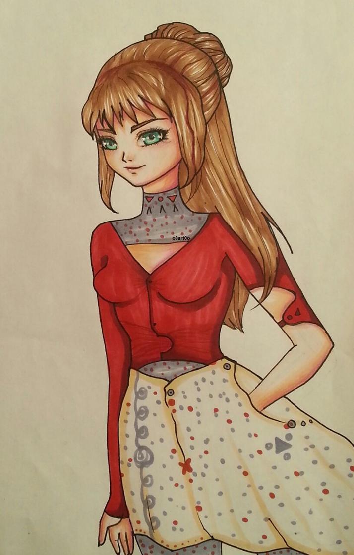 animegirl1 by o0art0o9