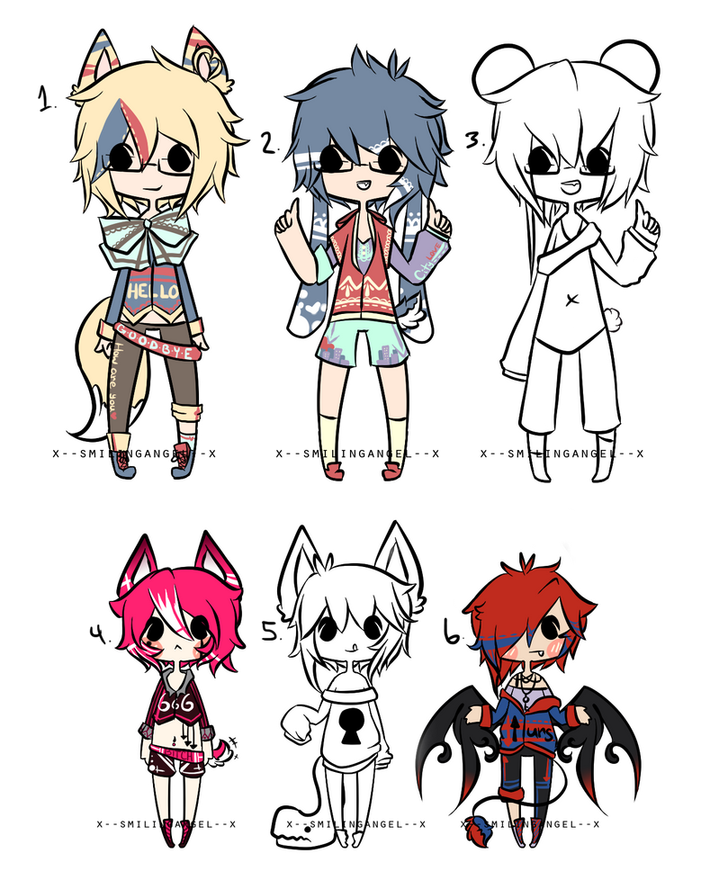 Kemonomimi + Megane Adopts Auction {O P E N} by chuguri