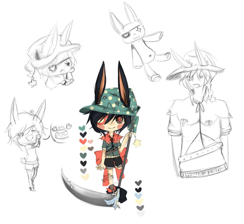 Starry Rabbit Sketch Sheet Adopt {OFFER} by chuguri