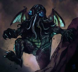 Cthulhu's rage! by FAB-dark
