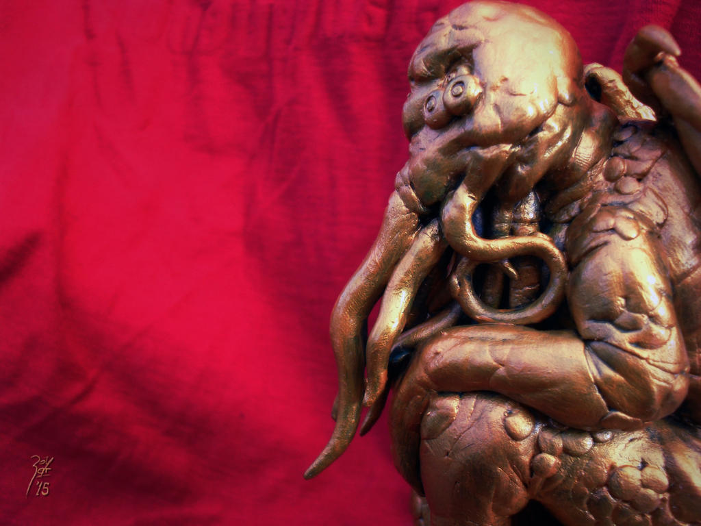 My Cthulhu sculpture by FAB-dark
