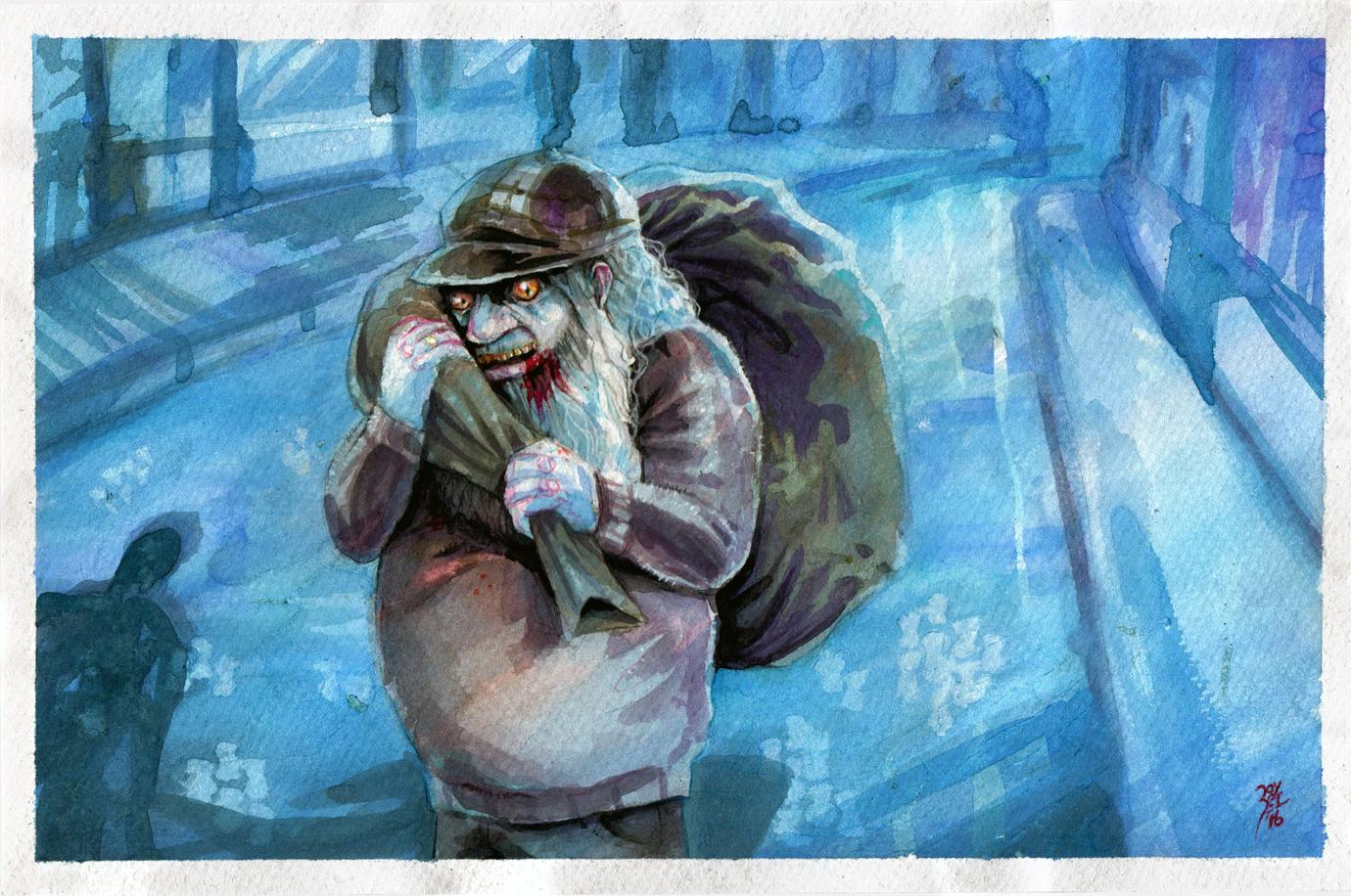 El viejo de la bolsa (SACOMAN) by FAB-dark