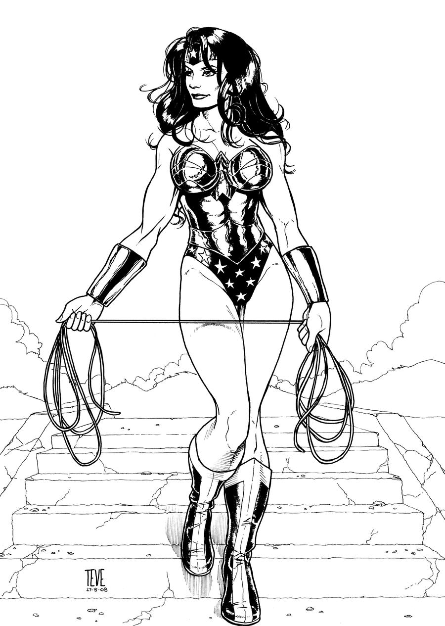 Wonder Woman (2008) Inks by SteveAndrew