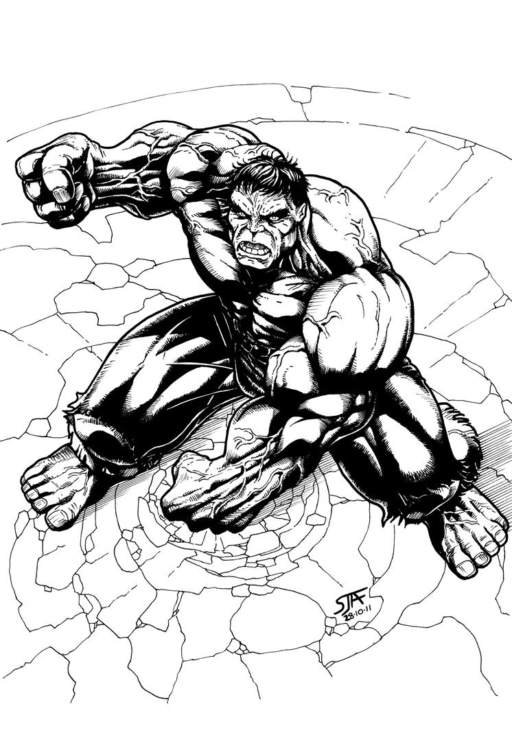 Hulk (2011) Inks by SteveAndrew