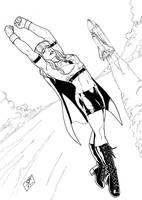 Supergirl 2 (2011) Inks by SteveAndrew