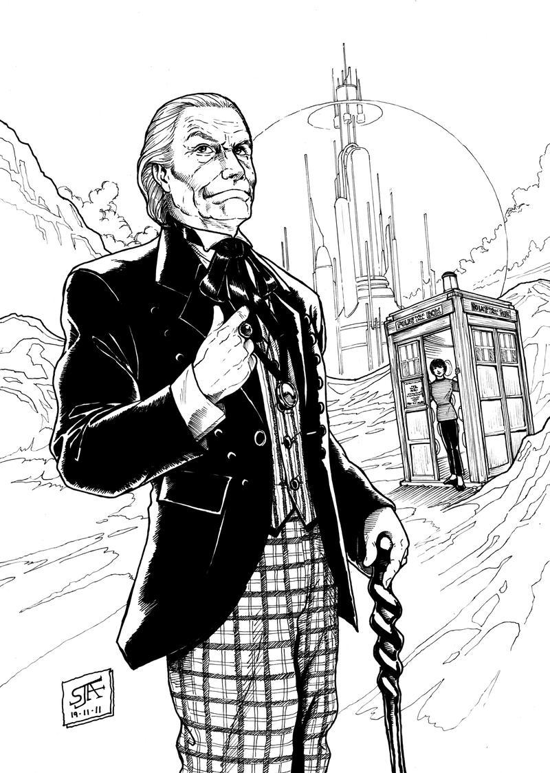 the first doctor 1  2011  inks by steveandrew on deviantart