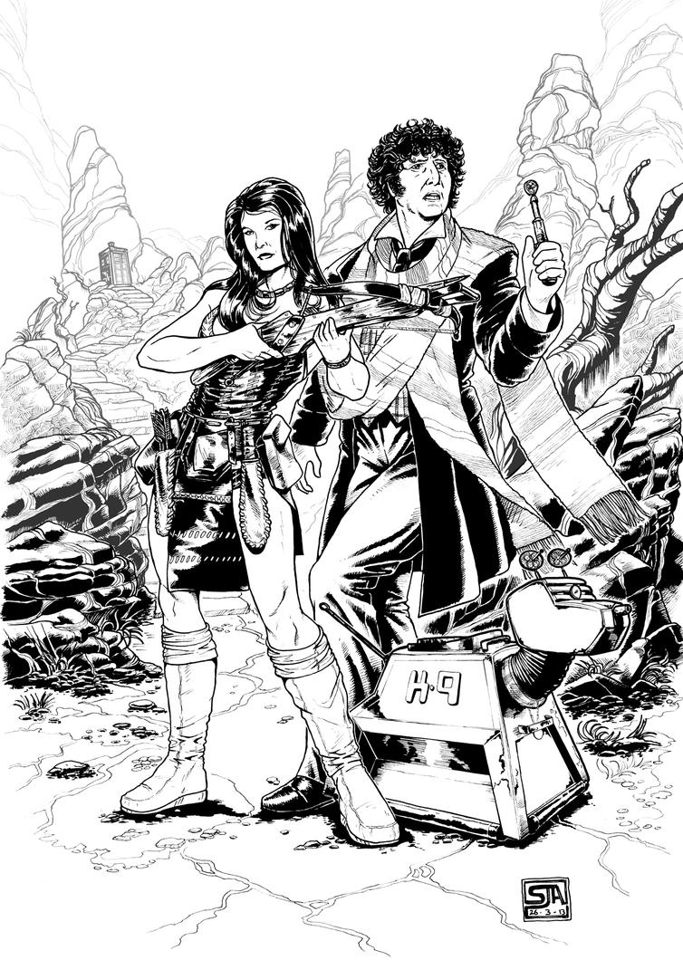 The Fourth Doctor 1 (2013) Inks by SteveAndrew