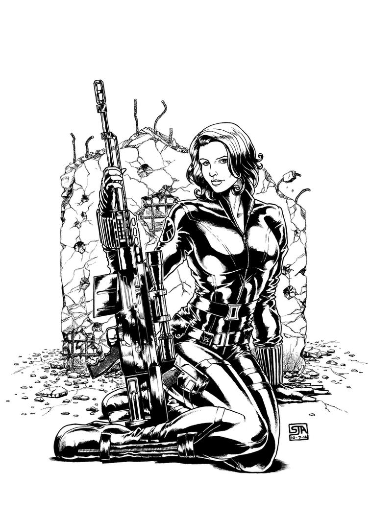 Black Widow 1 (2014) by SteveAndrew