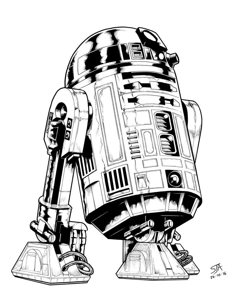 R2D2 (2016) Inks by SteveAndrew