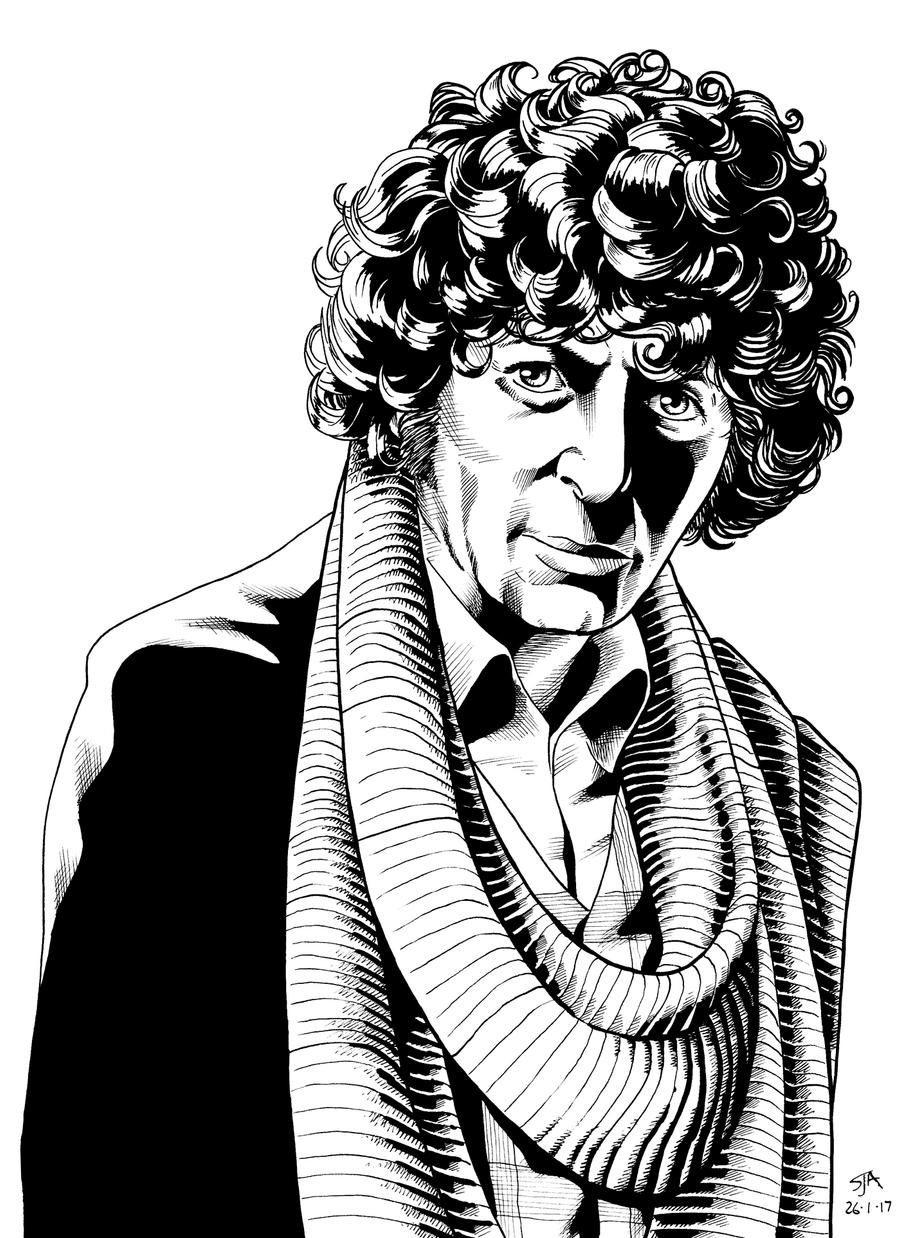 The Fourth Doctor 2 (2017) Inks by SteveAndrew