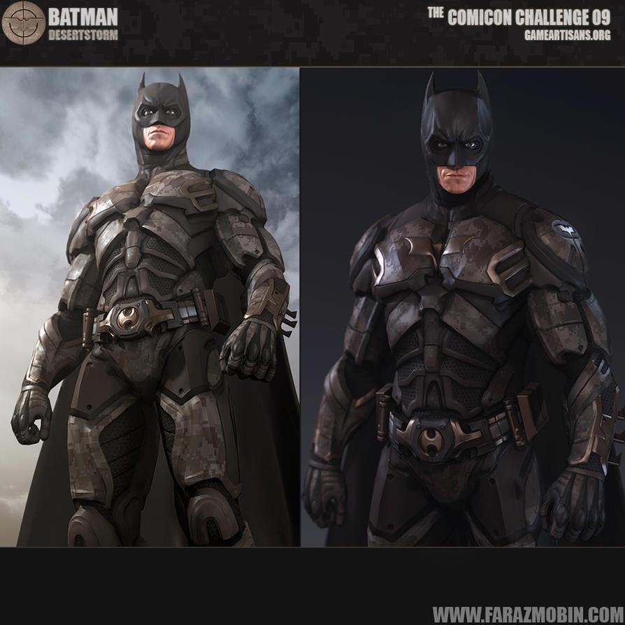 Batman Desert Storm Batsuit Concept by Scarlighter