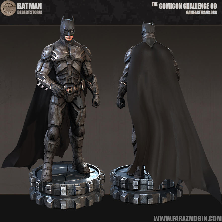 Batman Desert Storm Batsuit Concept 3D by Scarlighter