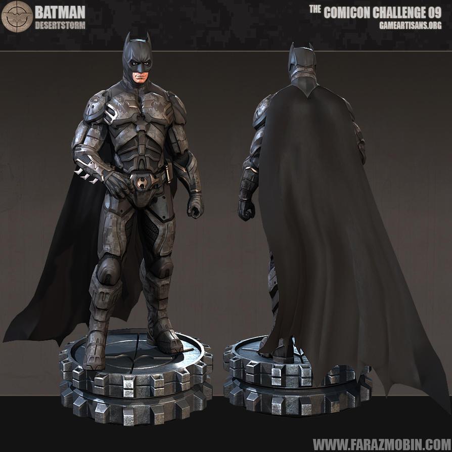 Batman Desert Storm Batsuit Concept 3D by Scarlighter