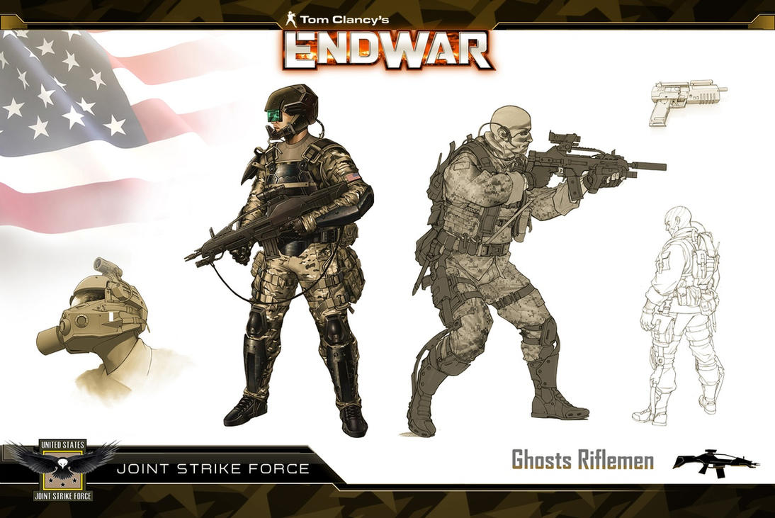 Endwar JSF Rifleman Concept by Scarlighter