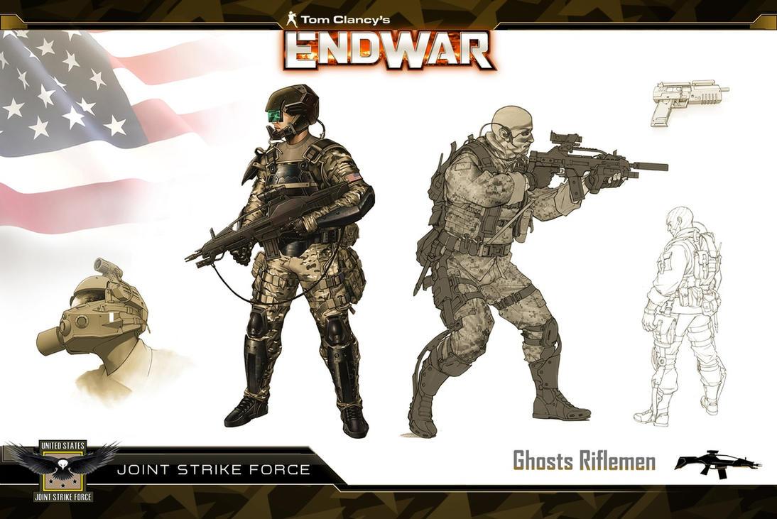 Endwar JSF Rifleman Concept by Scarlighter