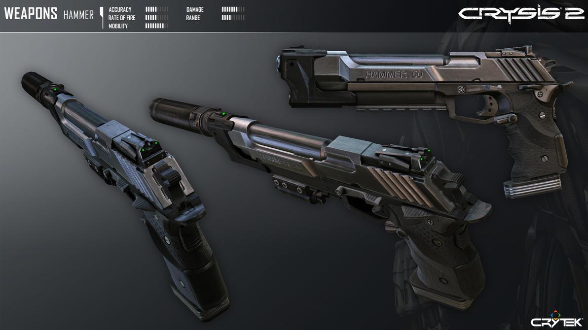 Crysis 2 Hammer Pistol by Scarlighter
