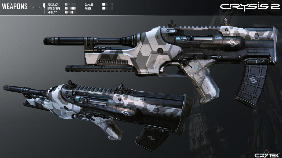 Crysis 2 Feline Sub Machine Gun by Scarlighter