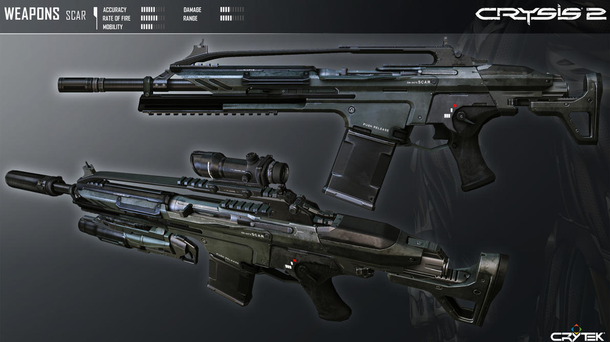 Crysis 2 Mk20 SCAR by Scarlighter