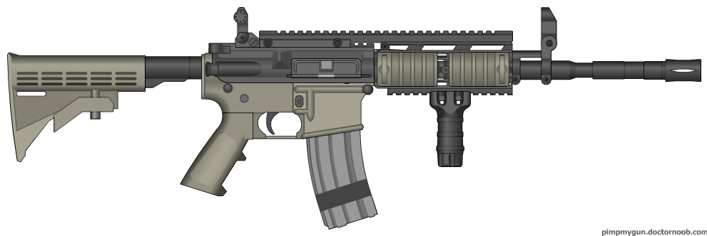 Colt M4A1 SIRS Modern Warfare 2 (Iron Sights) by Scarlighter