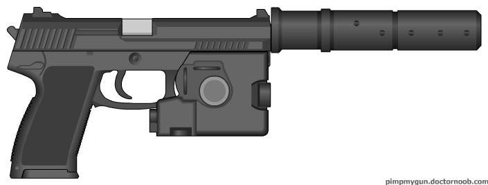 HK Mk23 Mod0 SOCOM Combat Pistol with Suppressor by Scarlighter