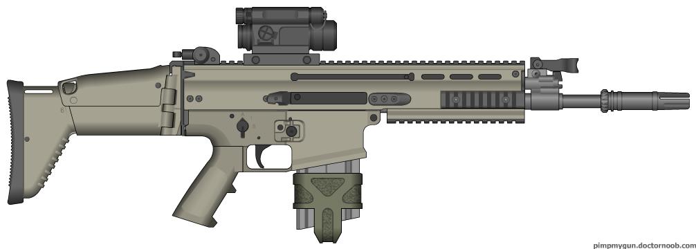 Herstal SCAR-H Modern Warfare 2 (MW1 Reflex Sight) by ...