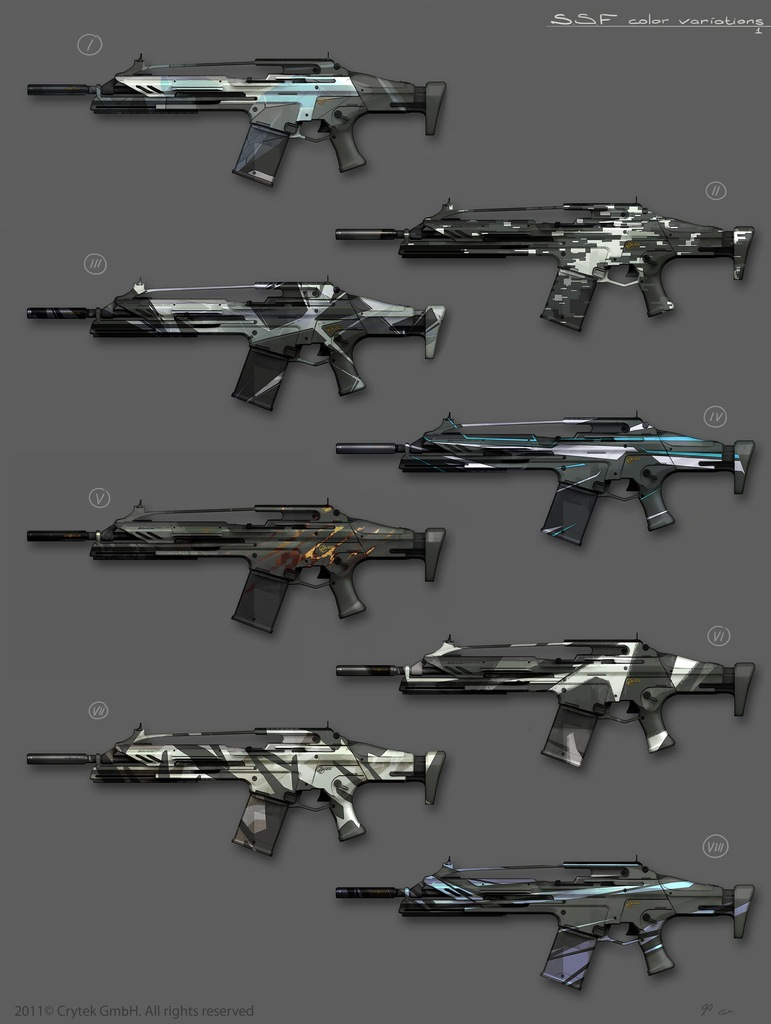 Mk20 SCAR Crysis 2 Custom Camos by Scarlighter