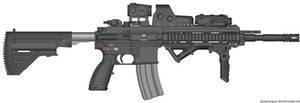 HK416 SOPMOD Carbine