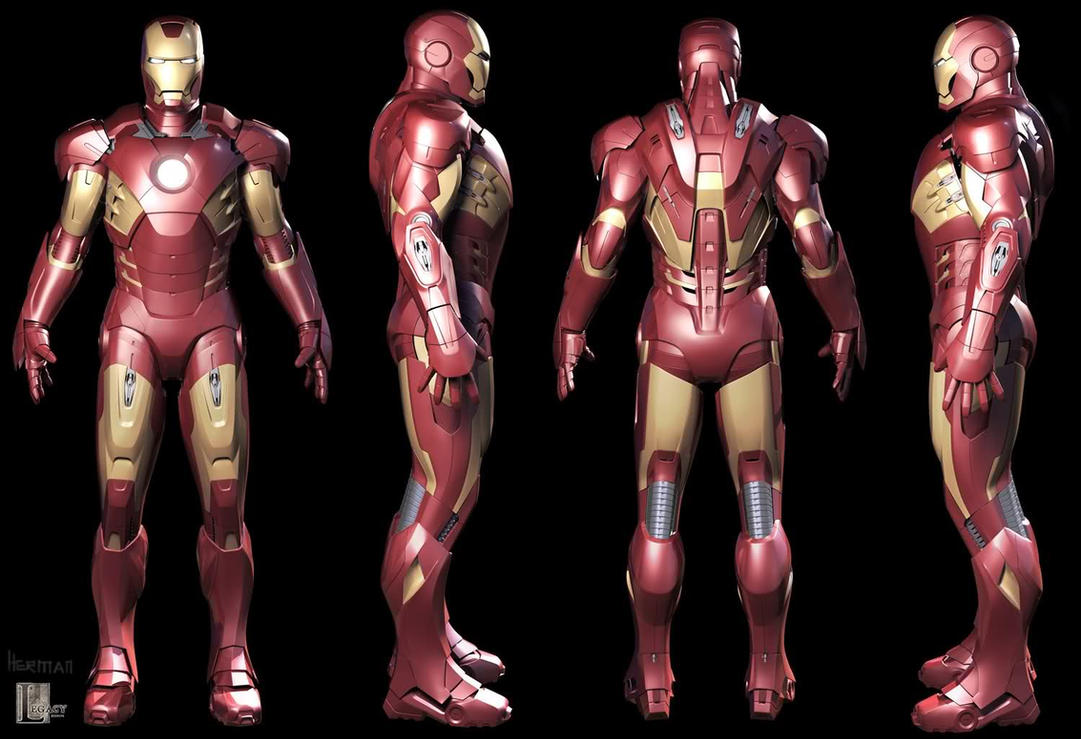 Iron Man Mark VII Armored Suit 3D Model by Scarlighter