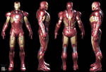 Iron Man Mark VII Armored Suit 3D Model