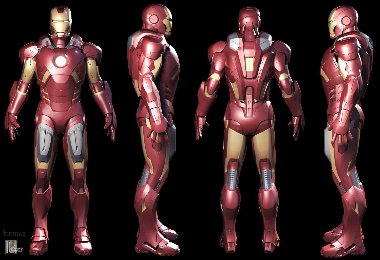 Iron Man Mark VII 3D Model (Jetpack+Missile Racks) by