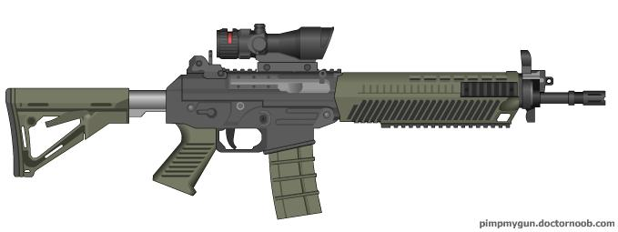 Black Ops 2 SWAT556 (ACOG Scope) by Scarlighter