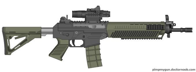 Black Ops 2 SWAT556 (Hybrid Optic) by Scarlighter