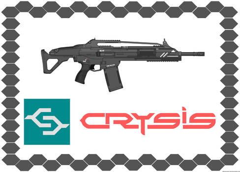 Crysis Mk20 SCAR (v2.0) with Writing and Logo