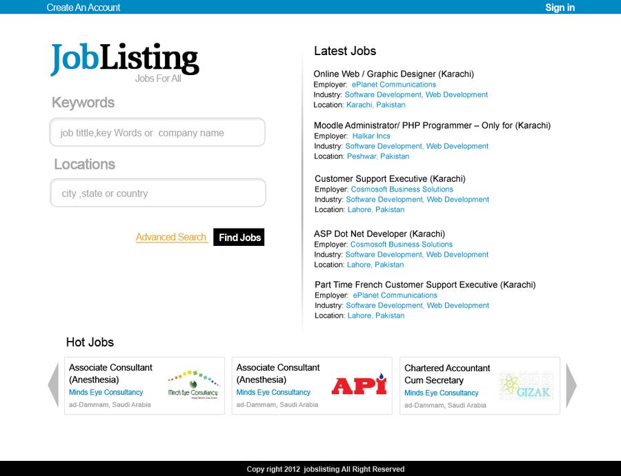 listing design