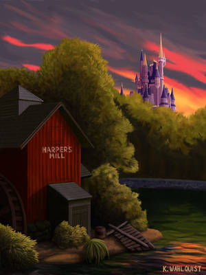 Sunrise in a Magic Kingdom by xfkirsten