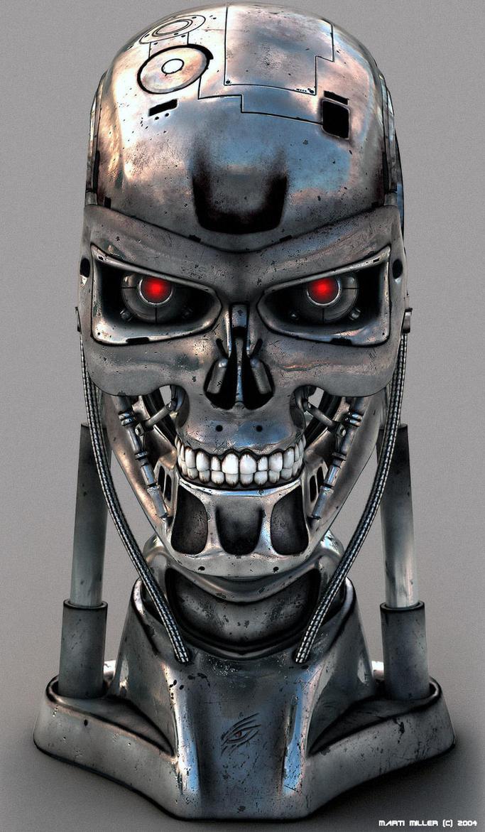 Cyborg Head 02 by mmarti