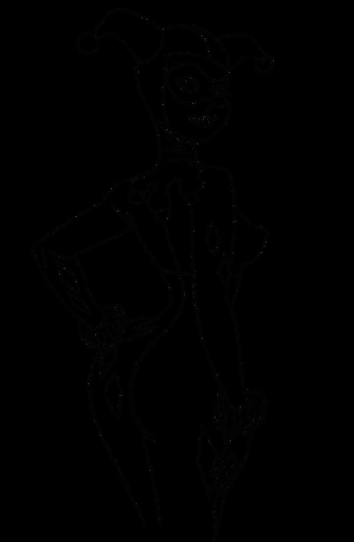 Line Art Harley Quinn : Harley quinn lineart by bactino on deviantart
