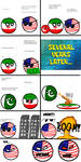 CountryBalls Comic 1: Iran and America's Dispute by befree2209