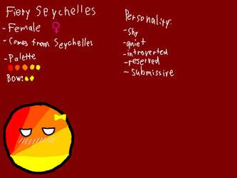 Fiery Seychelles Reference [OC] by befree2209