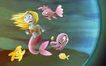 Shampoo cover, little mermaid