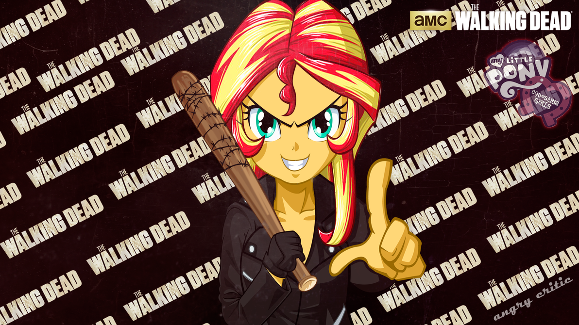 Sunset Shimmer Consplay Negan The walking Dead by ngrycritic